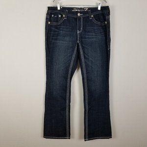 Seven 7 Slim Boot womens dark blue jeans size 16